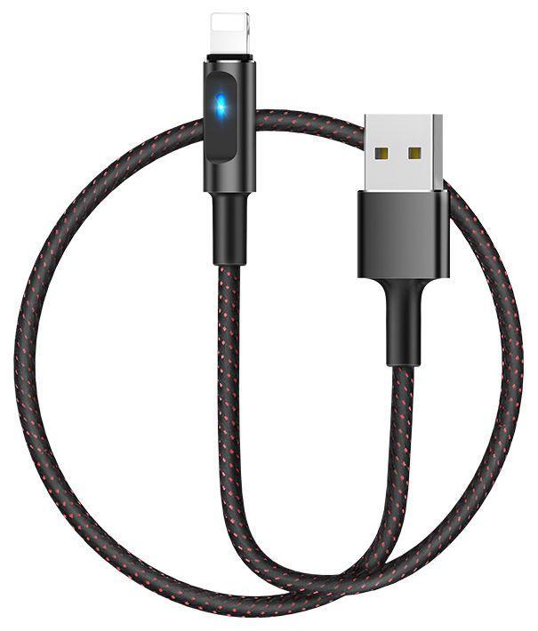 Кабель USB Hoco U47 Essence core smart power Lightning Black