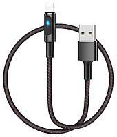 Кабель USB Hoco U47 Essence core smart power Lightning Black, фото 1