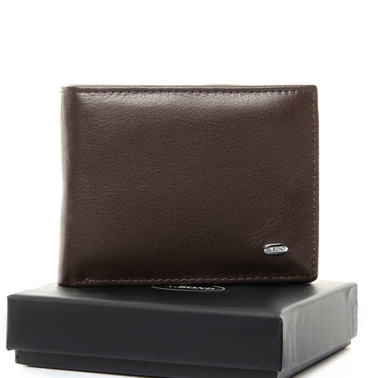 Чоловічий гаманець Classic шкіра DR. BOND MSM-1 коричневий