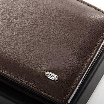 Чоловічий гаманець Classic шкіра DR. BOND MSM-1 коричневий, фото 2
