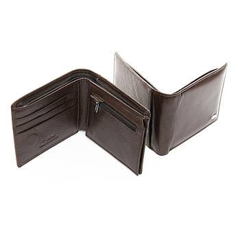Мужской кошелек Classic кожа DR. BOND MSM-4 коричневый, фото 2