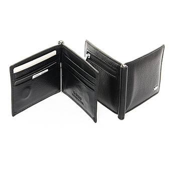 Мужской кошелек Classic кожа DR. BOND MZS-3 черный, фото 2