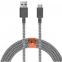 Кабель USB Native Union Belt Cable USB-A to USB-C (3m) Zebra  (BELT-KV-AC-ZEB-3)