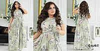 💥Женское красивое  нарядное длинное стильное платье. Нежные красивые цвета 💥Шикарно смотрится. Модель 💣