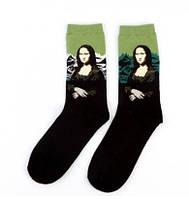 Прикольные мужские носки с принтом Мона лиза, фото 3