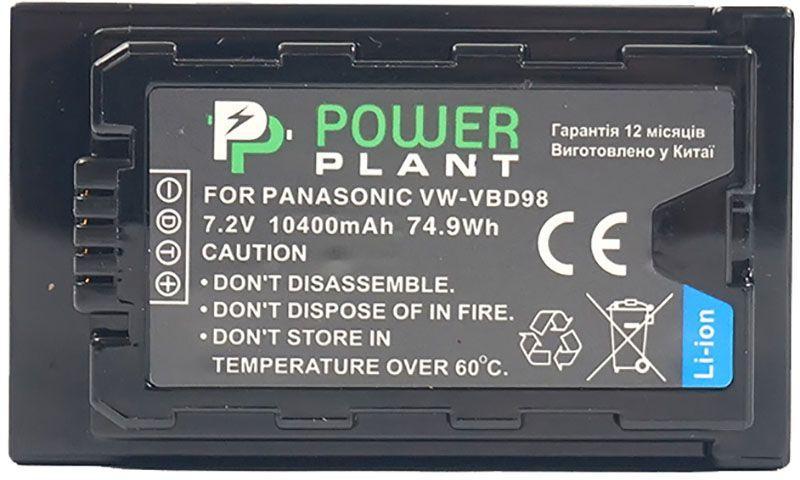 Аккумулятор для видеокамеры Panasonic VW-VBD98 (10400 mAh) CB970100 PowerPlant