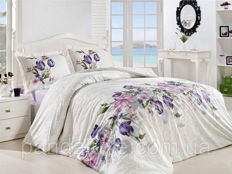 Постельное белье бязь голд, двуспальный евро комплект Цветочки