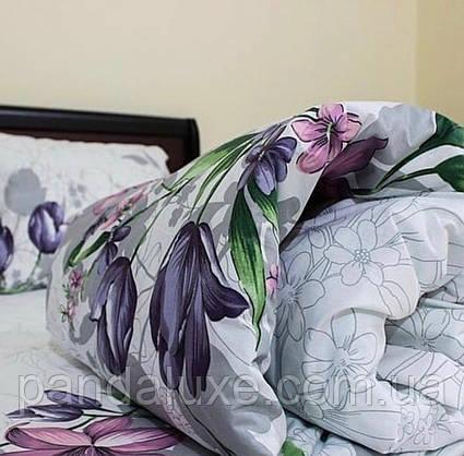 Постельное белье бязь голд, двуспальный евро комплект Цветочки, фото 3