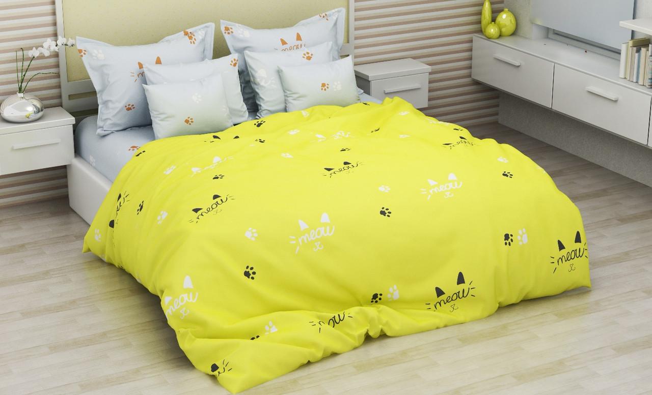 Комплект постельного белья евро на резинке 200*220 хлопок (14605) TM KRISPOL Украина