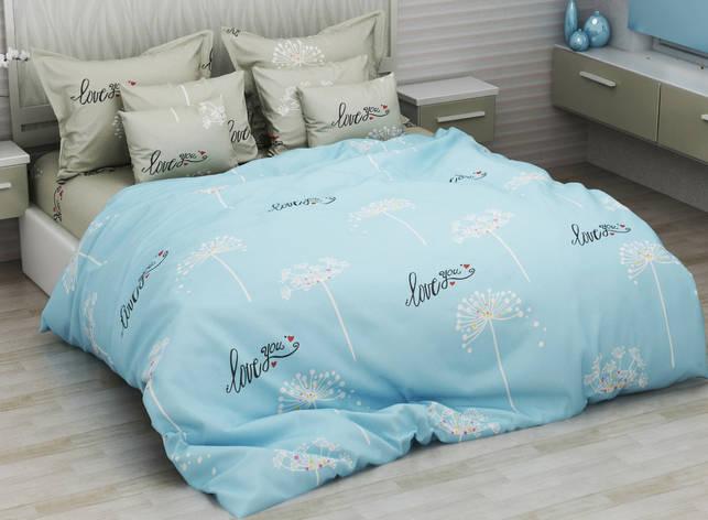 Комплект постельного белья евро на резинке 200*220 хлопок (14606) TM KRISPOL Украина, фото 2