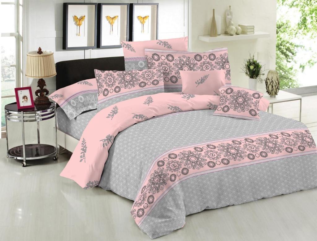Комплект постельного белья евро на резинке 200*220 хлопок (14607) TM KRISPOL Украина