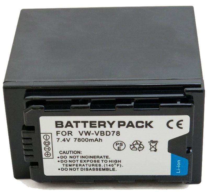 Аккумулятор для видеокамеры Panasonic VW-VBD78 (7800 mAh) BDP2694 ExtraDigital