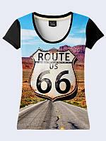 3D футболка Главная улица Америки (Размер: XS(42), Фасон: Женский)