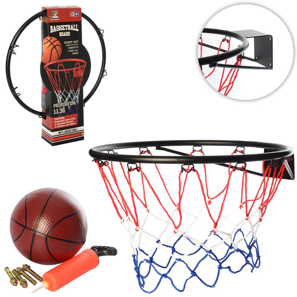 Баскетбольное кольцо 46 см, метка, мяч, насос
