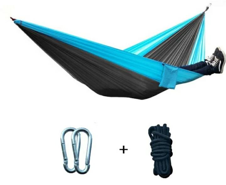 Туристический гамак Travel hammock 265х140 см, Серо-Голубой