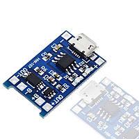 TP4056 з захистом модуль заряду Li-ion акумуляторів, MicroUSB