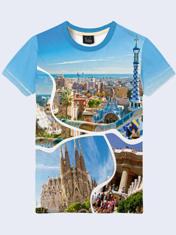 3D Футболка Барселона коллаж (Размер: XL(52), Фасон: Мужской)