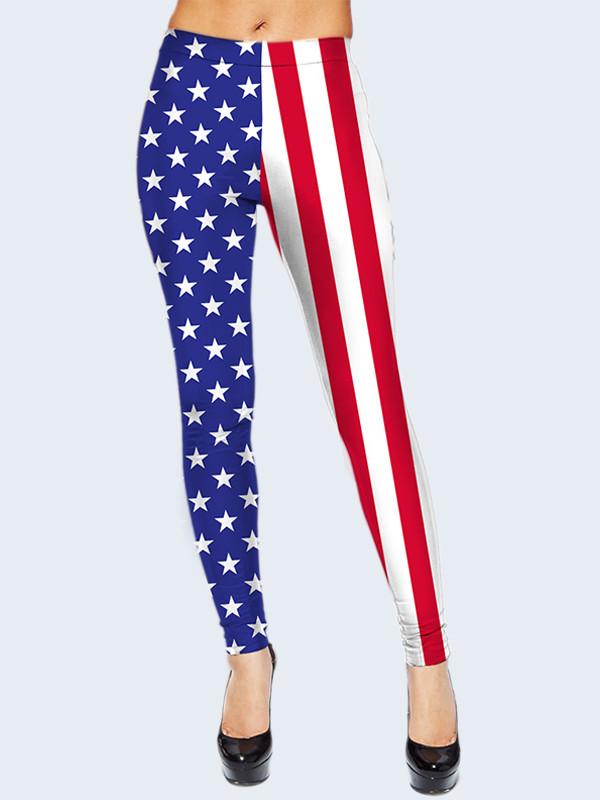 Леггинсы Американский флаг (Размер: XXS/XS(40-42), Фасон: Женский)