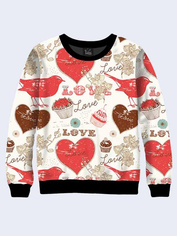 Свитшот Chocolate Love (Размер: XS(42), Фасон: Женский)