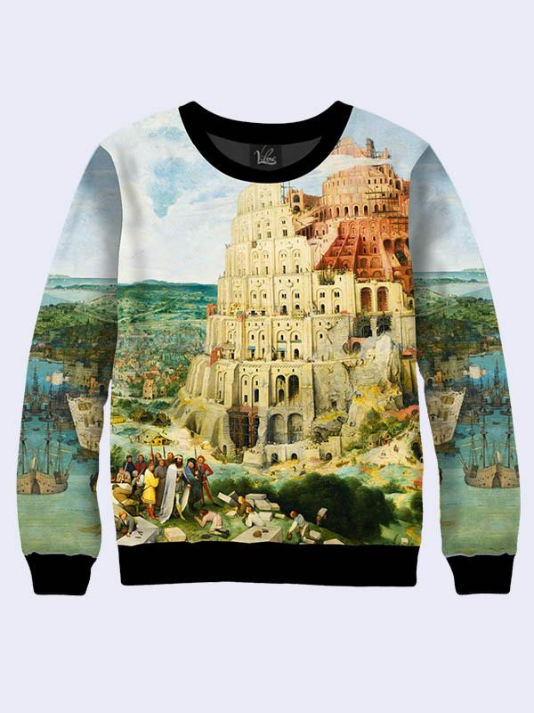 Свитшот Брейгель Вавилонская башня (Размер: XS(42), Фасон: Женский)