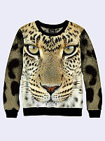 Свитшот Взгляд леопарда (Размер: M(46), Фасон: Женский)