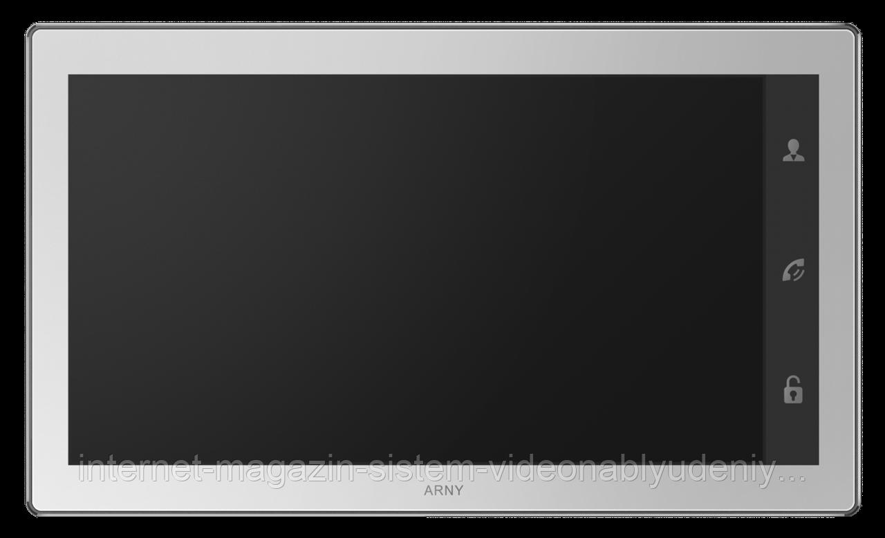 Цветной видеодомофон Arny AVD-1040 2MPX с датчиком движения 10'' Белый (arny-000125)
