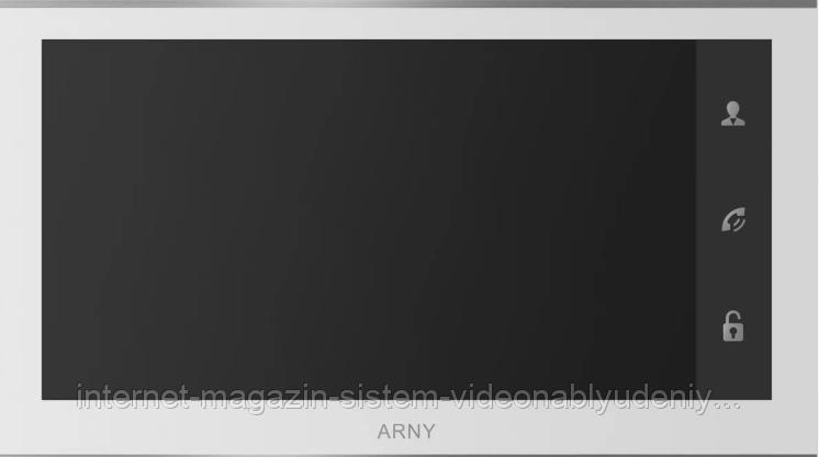"""Видеодомофон цветной Arny AVD-730 2MPX Wi-Fi IPS 7"""" с детектором движения Белый (arny-000136)"""