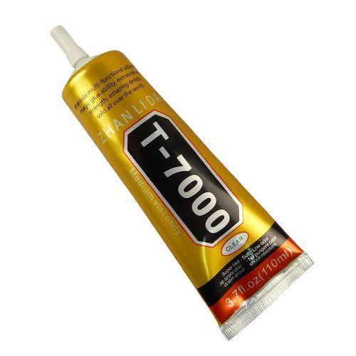 Клей силиконовый ZHANLIDA T-7000 110мл, в тюбике с дозатором, черний