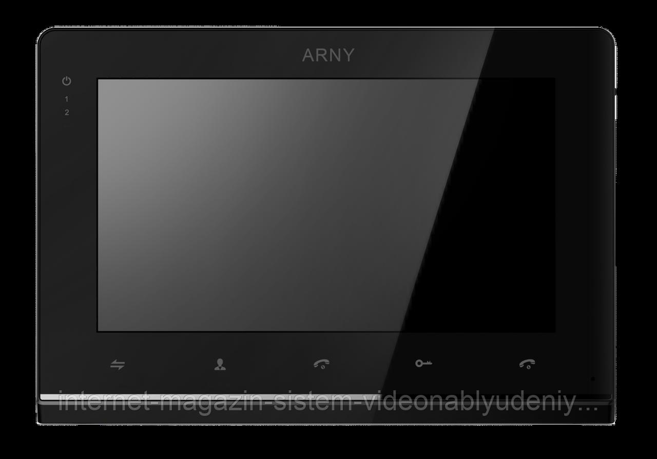 """Видеодомофон цветной AVD-710 2MPX IPS 7"""" Черный"""