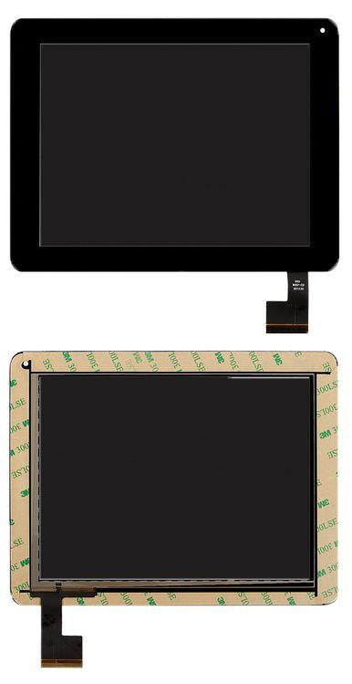 Сенсор (тачскрин) Modecom FreeTab 8001 3G, Digma iDsD8 3G (199x154, 50pin, #QSD 8007-03) Black