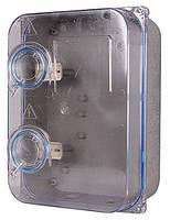 Шкаф пластиковый прозр. под трёхфазный счетчик навесной с комплектом метизов E.NEXT
