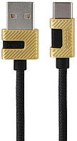 Кабель USB Remax Metal Data Type-C Black (RC-089a)
