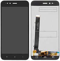 Дисплей (экран) для телефона Xiaomi Mi A1, Mi5X + Touchscreen (original) Black