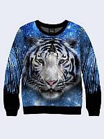 Свитшот Взгляд белого тигра (Размер: M(48), Фасон: Мужской)