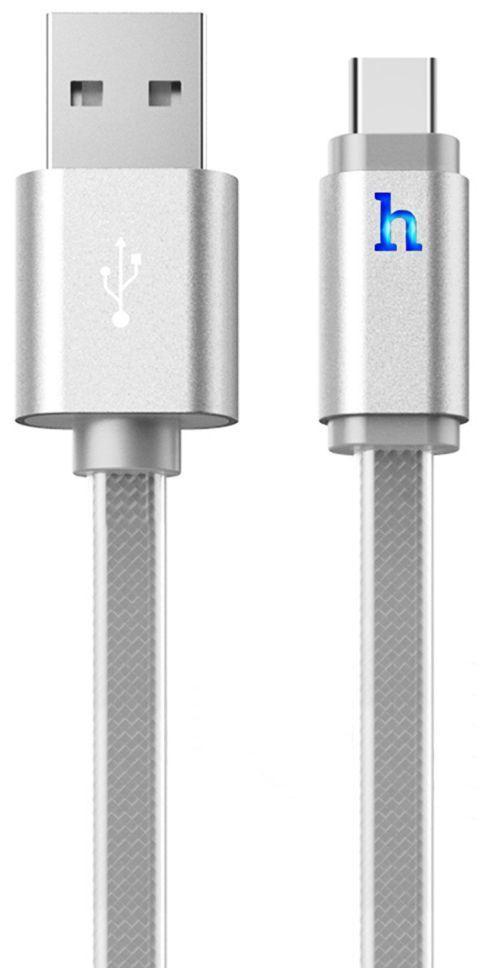 Кабель USB Hoco Metal Jelly Knitted Type-C Silver (UPL12)