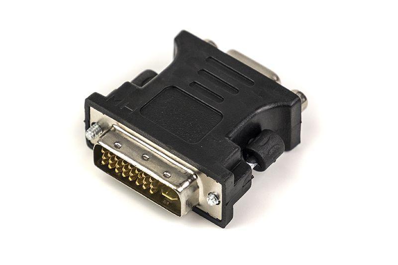 Видео переходник (адаптер) PowerPlant VGA - DVI-I черный