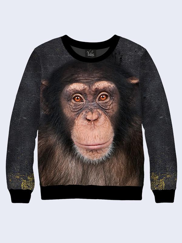 Свитшот Обезьяна шимпанзе (Размер: M(48), Фасон: Мужской)