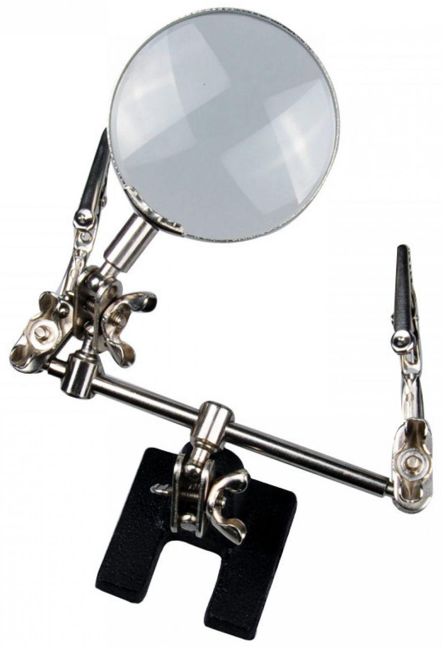 Держатель плат с подсветкой Magnifier MG16126 5Х 65 мм