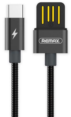 Кабель USB Remax Metal Serpent USB Type-C Cable Space Grey (RC-080a)