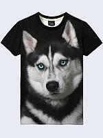 3D футболка Щенок хаски (Размер: S(46), Фасон: Мужской)