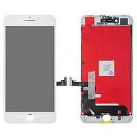 Дисплей (экран) для телефона Apple iPhone 8 Plus + Touchscreen with frame (high copy) White