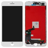 Дисплей (экран) для телефона Apple iPhone 8 Plus + Touchscreen with frame White
