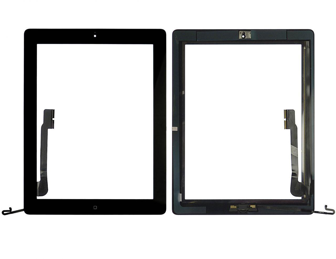 Сенсор (тачскрин) Apple iPad 3 (A1416, A1430) (полный комплект с кнопкой Home) (high copy) Black