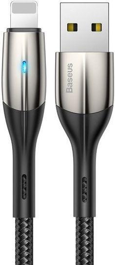 Кабель USB Baseus Horizontal (LED) Lightning Cable Black