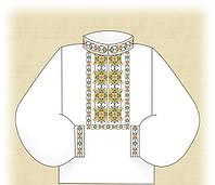 """Заготовка цветная """"Универсальная"""" для вышивания вставки мужской рубашки бисером"""