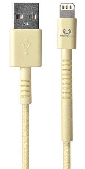 Кабель USB Fresh 'n Rebel Fabriq Lightning Cable 1,5m Buttercup (2LCF150BC)