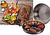 Cковорода гриль-газ сковорода 32 см с эмалированным покрытием