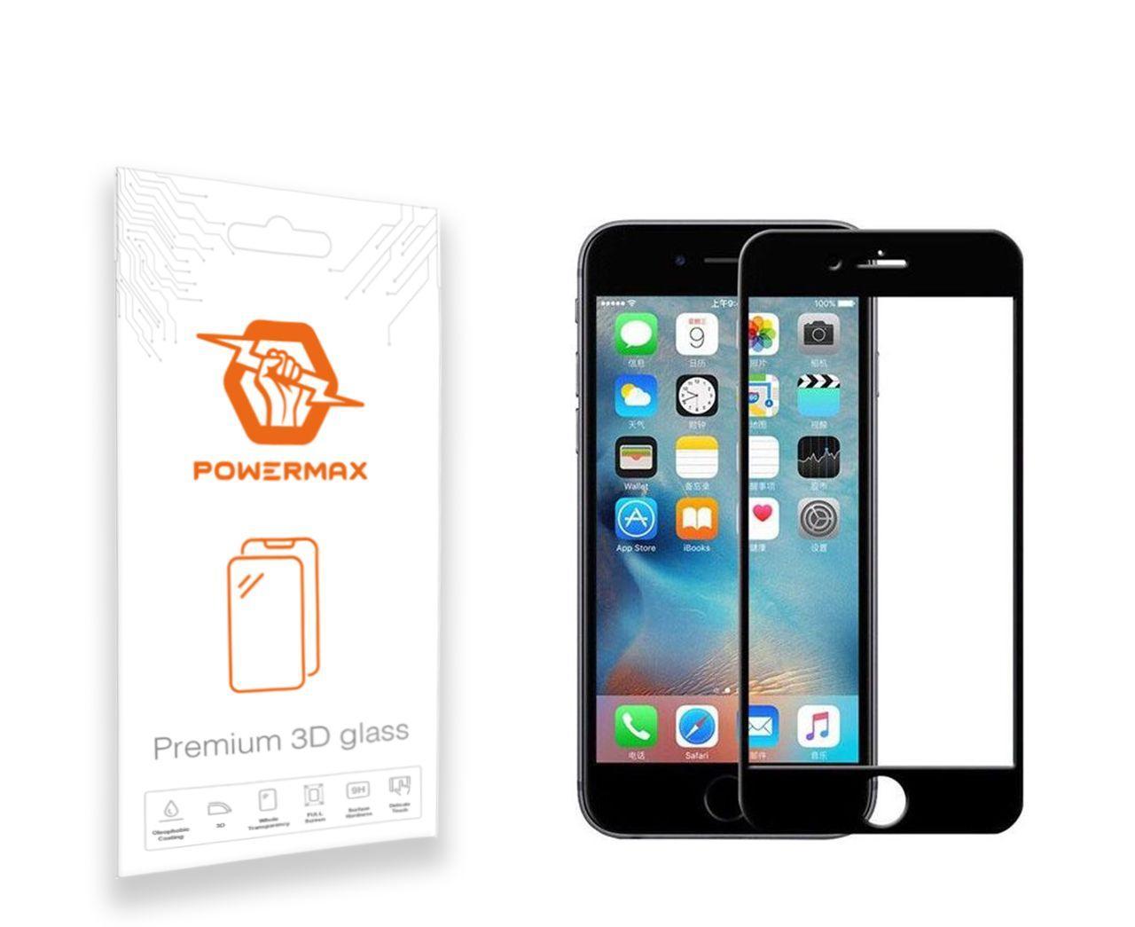 Защитное стекло Powermax 3D Premium Apple iPhone 6, iPhone 6S Black (PWRMX3DIPH6B)