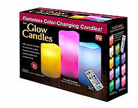 Ночник свечи на 3 свечи, Светильник свеча Luma Candles Color Changing, Светильник свеча  в стиле лофт