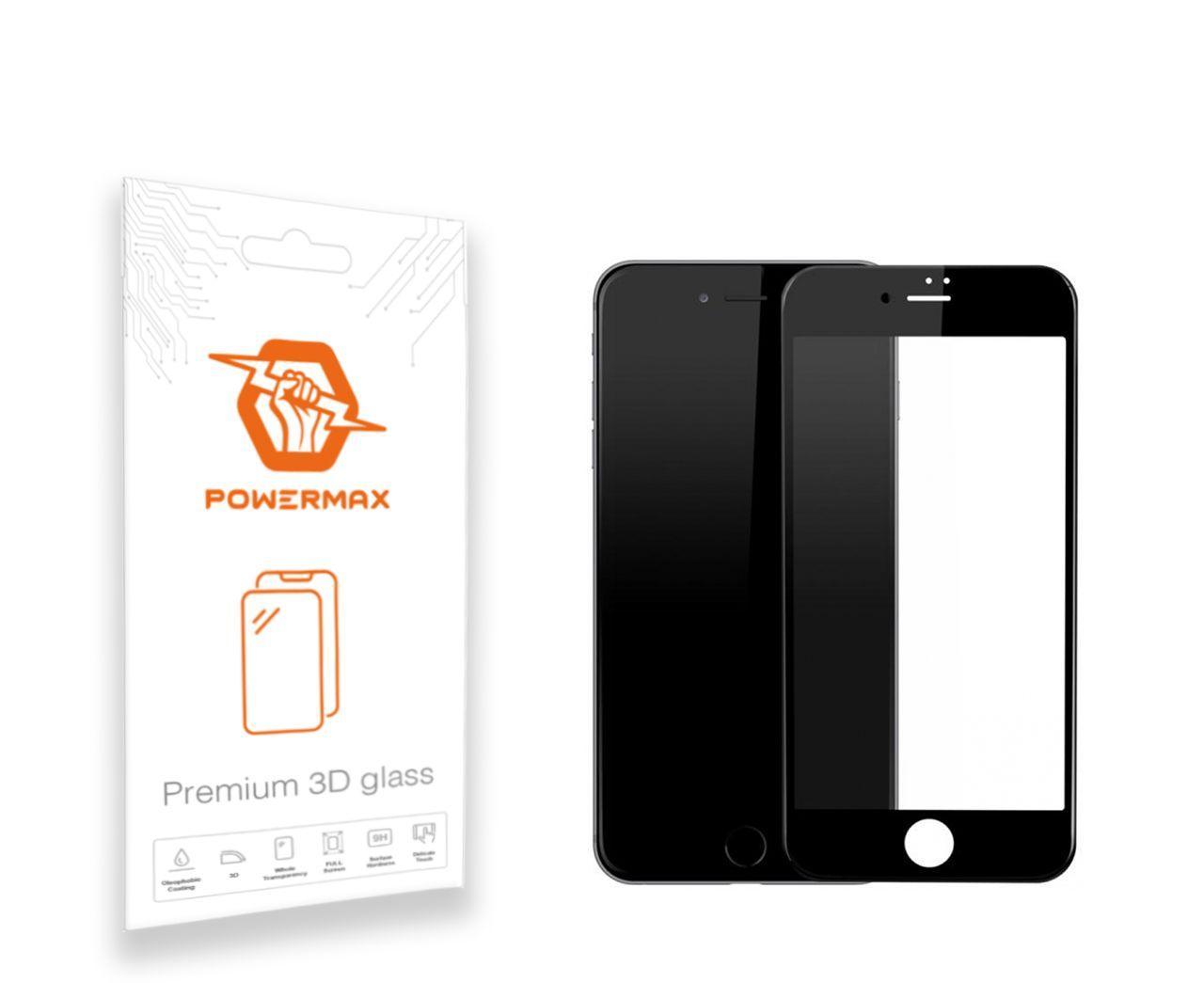Защитное стекло Powermax 3D Premium Apple iPhone 7, iPhone 8 Black (PWRMX3DIPH7B)